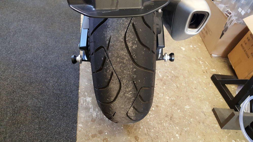 BMW S1000XR Rear Wheel Spindle Sliders Bobbins. Year 2015 to 2019