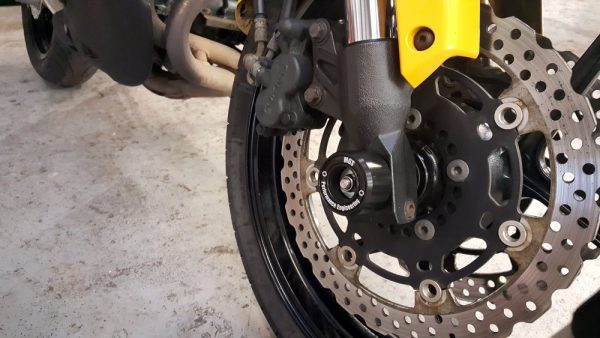 Motorcycle Fork Spindle Protectors - MGS Performance Engineering