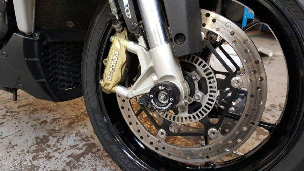 MGS Performance Engineering - Motorcycle Fork Spindle Protectors